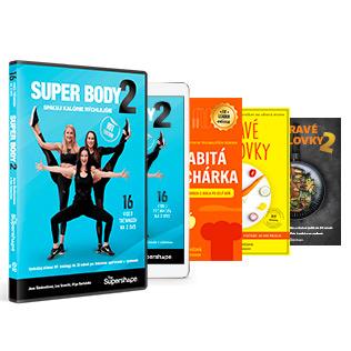 SUPER BODY 2 DVD + ON-LINE + ZDRAVÉ RÝCHLOVKY 1 + ZDRAVÉ RÝCHLOVKY 2 + NABITÁ KUCHÁRKA TLAČENÁ