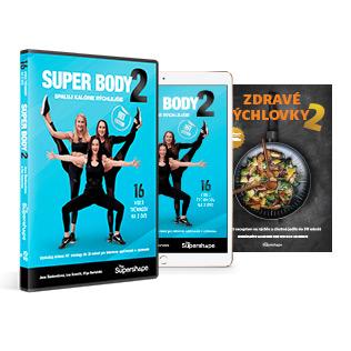 SUPER BODY 2 DVD + ON-LINE + ZDRAVÉ RÝCHLOVKY 2 TLAČENÁ